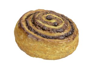 photorealistic scanned cinnamon roll 3D model