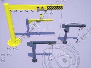 jib cranes pack 3D model