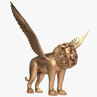 winged lion model
