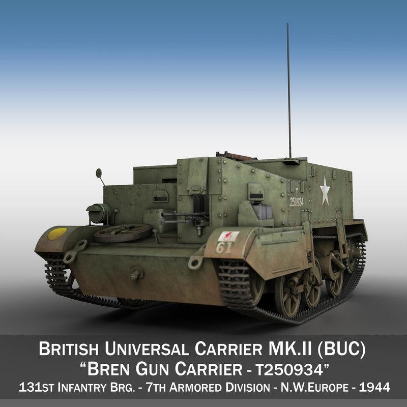 3D bren gun carrier - model