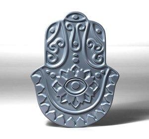 hamsa pendant amulet 3D model