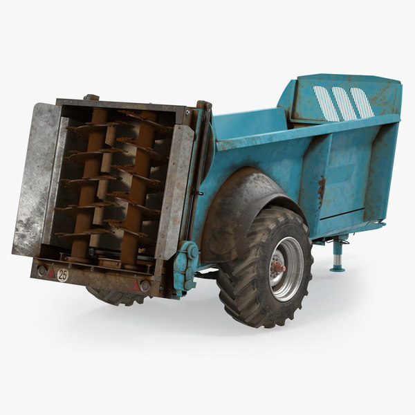 manure spreader dirty generic 3D