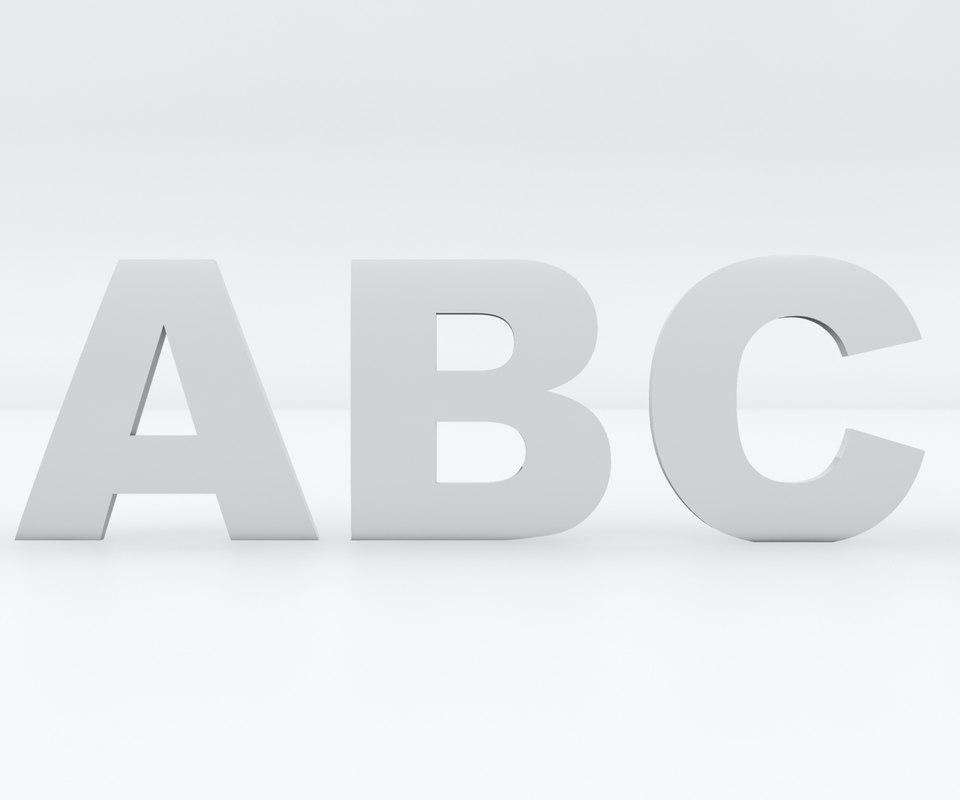 alphabet letters printing car badge 3D