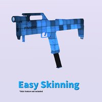 fmg9 skin gun 3D model