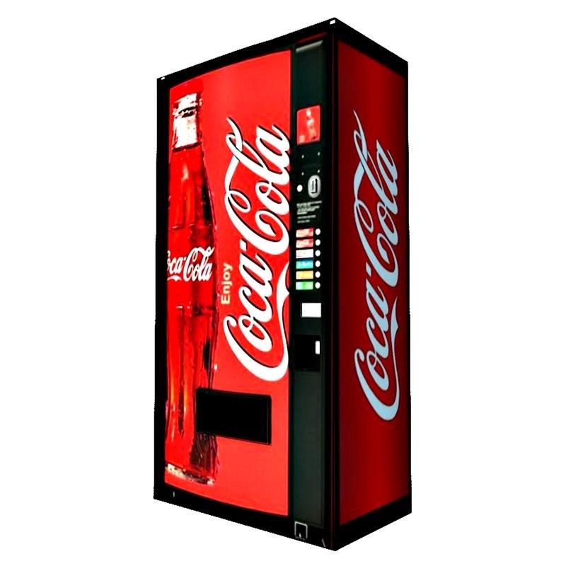 3D coca cola machine