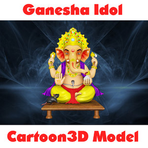 ganesha idol cartoon3d model