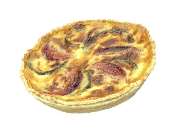 3D photorealistic scanned quiche