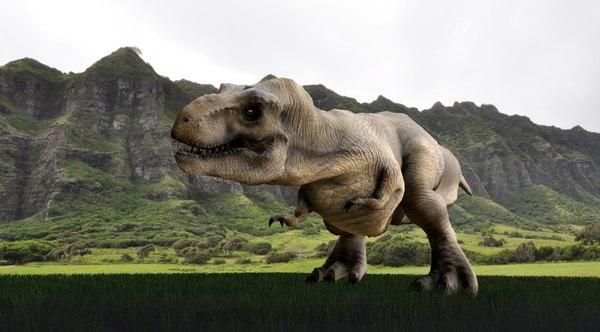 rex jurassic park 3D model