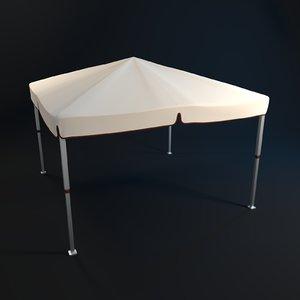 3D party tent model
