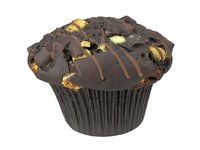 3D photorealistic scanned chocolate muffin