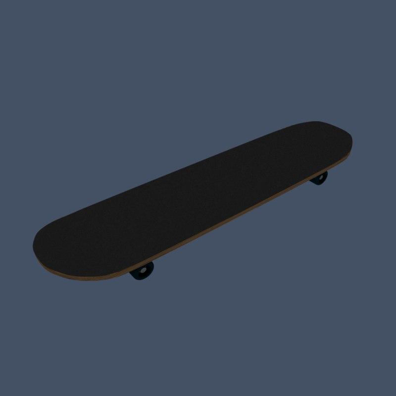 3D model skateboard skate board