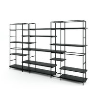 plain bookcase 3D model