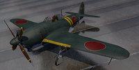plane kawanishi n1k2-j shiden 3D model