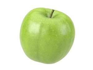 photorealistic scanned apple 3D