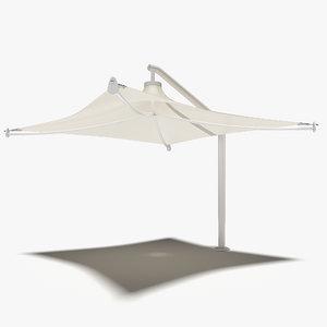 tensile canopy 3D model