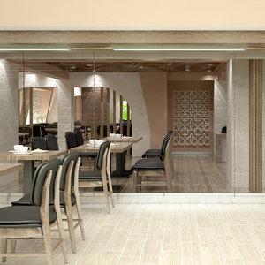 restaurant 05 interior model