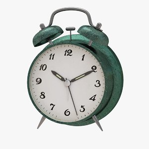 clock alarm green 3D