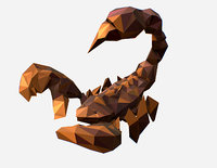 Animated Low Poly Art brown classical  Scorpion 3d model