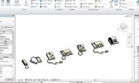 7 Telephone models Revit 2015