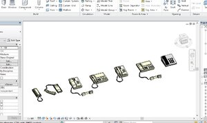 revit 2015 7 telephone 3D model