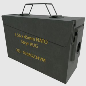 3D ammo box - ready model