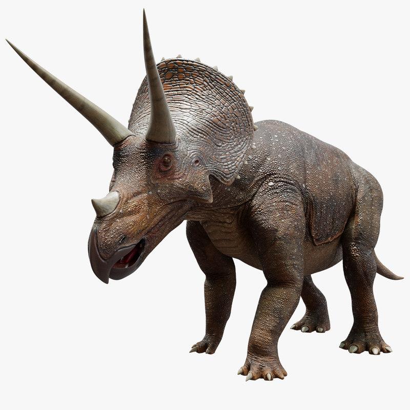 triceratops cretaceous 3D model