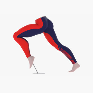 3D model sprint legs figure pose