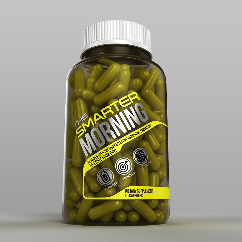 transparent bottle capsules model