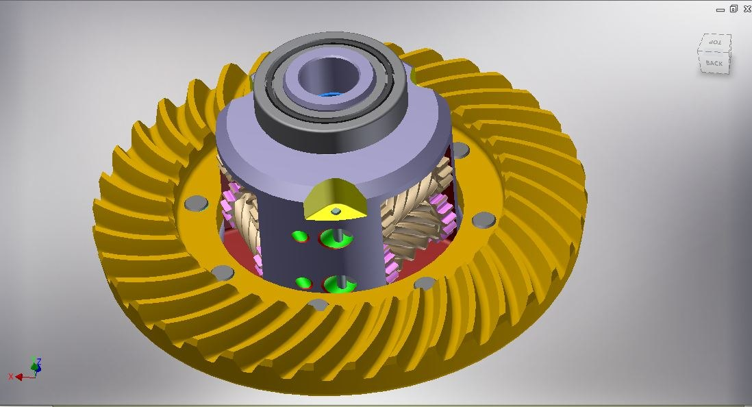 gear differential 3D model