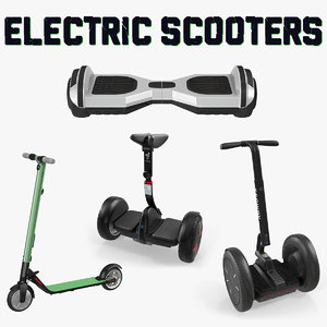 electric scooters 3D model