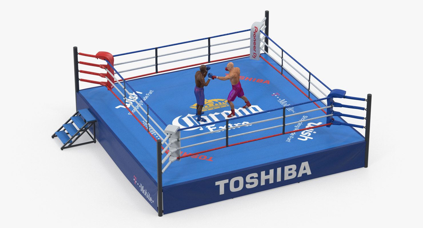 boxers fighting boxing ring 3D model