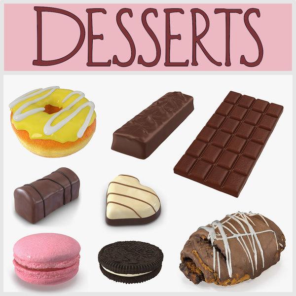 desserts oreo cookie 3D model