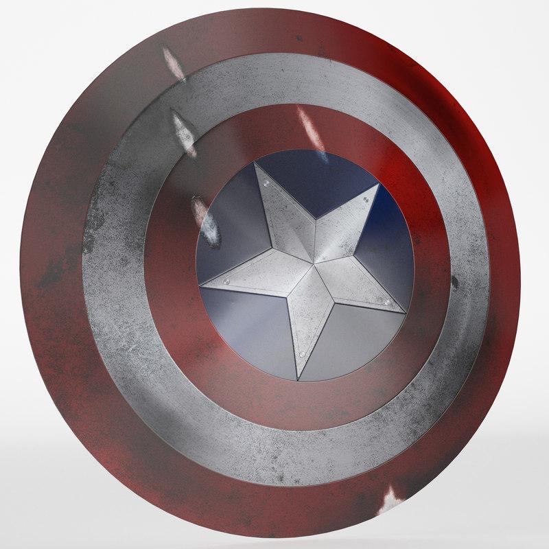 marvel captain america shield 3D model