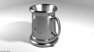 3D tankard trophy
