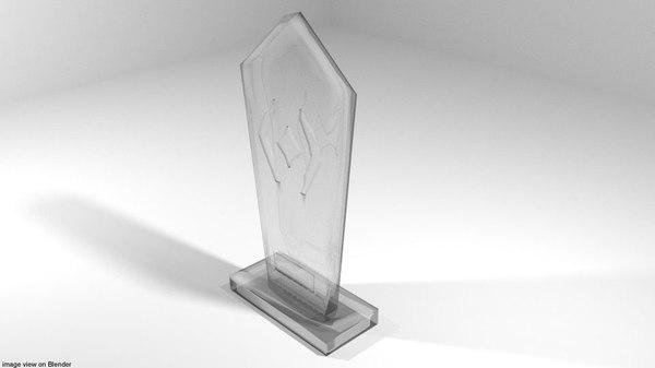 glass trophy 3D model