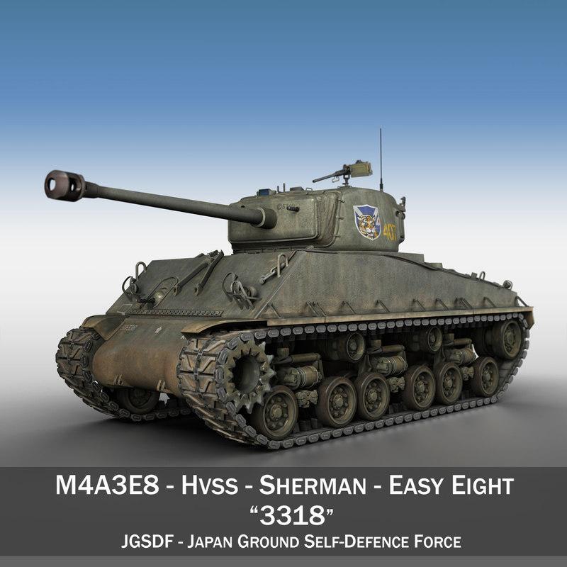 3D m4a3e8 sherman -