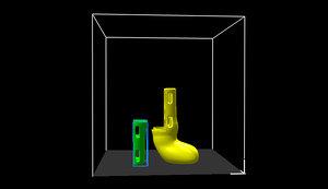 prosthesis small dogs v2 3D model
