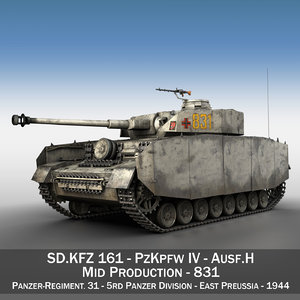 3D model panzer iv pzkpfw