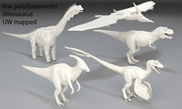 Dinosaur-5 peaces-low poly-part 6
