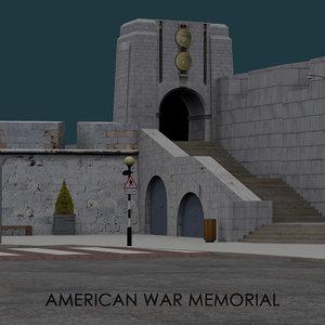 american war memorial gibraltar 3D model