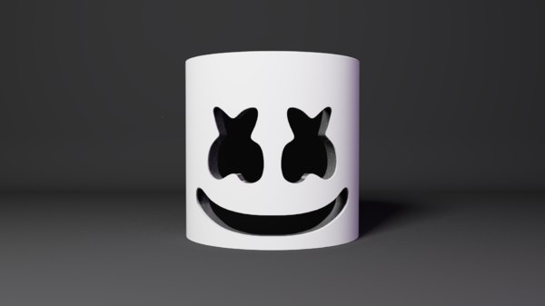3D marshmello helmet model