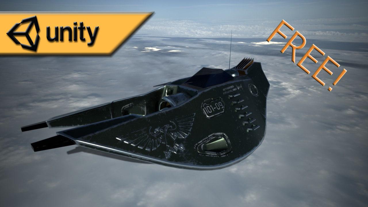 sci-fi fighter w40k stylized 3D model