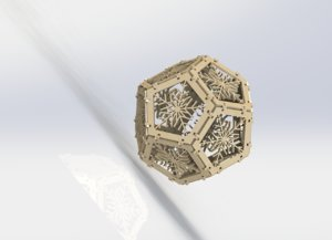3D wooden snowflakes adornment ball