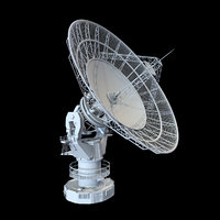3D radio telescope model