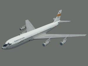 3D model boeing 707