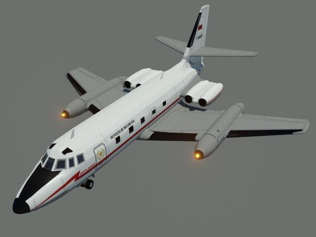 c140 jetstar 3D