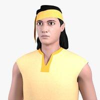 sandeep male characters 3D model