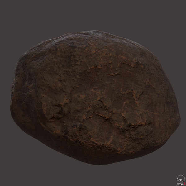 3D sculpted rock