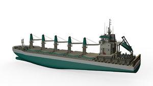 updated bulk carrier ship 3D model