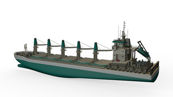 updated bulk carrier ship 3D model